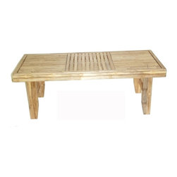 "Bamboo54 - Bamboo Fancy Folding Coffee Table - Ultra fancy and chic folding bamboo table. The table top is sand flat as is the entire body of this wonderful and articulate coffee table. Heavy duty and sturdy, it is made with ""iron"" bamboo from Vietnam. Measures 48 W x 21 D x 17.5 H"