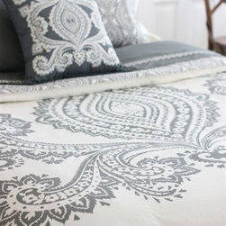 Bucharest Duvet by Amy Butler - This Amy Butler lace embroidered Duvet is Stunning and will be the perfect accent for the guest room!