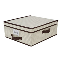 Delta Under-crib, Under-bed Storage, Beige Polka Dot - The space under the crib is often underutilized. The solution? Buy these inexpensive under-crib storage bins from Walmart for linens, towels, blankets, burp cloths and more. When baby gets older and transfers to a bed, use these for under-bed storage. When not in use, they fold flat to take up minimal space.