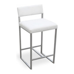 Gus Modern Graph Stool Stools/Cubes - Simple, clean yet comfortable; this describes the perfect perch at the counter or bar! Because it's vinyl, it can handle spills much better than a natural fiber, so you can get away with these if you have little ones. However, if you do, I'd still recommend coal over white!