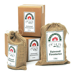 Fatwood Firestarter - Start your fires quickly with some Fatwood Firestarter. Made from natural pine rich with sap that burns quickly and creates a pleasant smell.