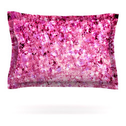 "Kess InHouse - Ebi Emporium ""Romance Me"" Pink Glitter Pillow Sham (Cotton, 40"" x 20"") - Pairing your already chic duvet cover with playful pillow shams is the perfect way to tie your bedroom together. There are endless possibilities to feed your artistic palette with these imaginative pillow shams. It will looks so elegant you won't want ruin the masterpiece you have created when you go to bed. Not only are these pillow shams nice to look at they are also made from a high quality cotton blend. They are so soft that they will elevate your sleep up to level that is beyond Cloud 9. We always print our goods with the highest quality printing process in order to maintain the integrity of the art that you are adeptly displaying. This means that you won't have to worry about your art fading or your sham loosing it's freshness."