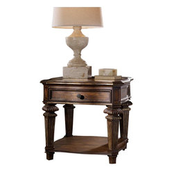 Hooker Furniture - Hooker Furniture Adagio End Table - Hooker Furniture - End Tables - 509180113 - Grand scale, classic design and soft, flowing shapes are married with a rich, dark finish to give birth to the stunning Adagio collection.