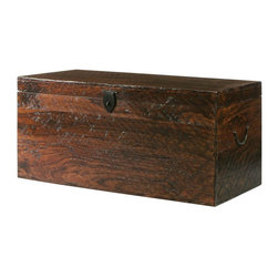 Home Decorators Collection Maldives Trunk, Walnut - Furniture that can perform more than one function is must in a small space. This trunk can serve as a coffee table or bench at the end of your bed, and it can store out-of-season clothing and/or linens at the same time.