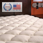 Extra Plush Bamboo Top Mattress Pad - You'll love the luxurious comfort of this mattress pad! Top-quilted bamboo blend fabric is silky to the touch and is extra plush for a more comfortable sleep. The bamboo fabric breathes extremely well and can help cool down those extra warm mattresses (perfect to counterbalance Tempurpedic). The bamboo plant is a sustainable resource and the fastest growing plant in the world. Go Green and sleep better at the same time!