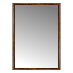 """Posters 2 Prints, LLC - 46"""" x 64"""" Belmont Light Brown Custom Framed Mirror - 46"""" x 64"""" Custom Framed Mirror made by Posters 2 Prints. Standard glass with unrivaled selection of crafted mirror frames.  Protected with category II safety backing to keep glass fragments together should the mirror be accidentally broken.  Safe arrival guaranteed.  Made in the United States of America"""