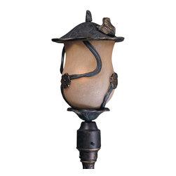 Triarch International - Triarch 75136-12 Froggy Weathered Bronze Outdoor Post Light - Triarch 75136-12 Froggy Weathered Bronze Outdoor Post Light