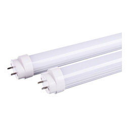 Austec T8 LED Ballast Compatible (No Rewiring Needed) 18 Watt 4 Foot Tube - Austec T8 LED Ballast Compatible (No Rewiring Needed) 18 Watt 4 Foot Tube 4500k Natural White color, ETL Approved (Quantity 2 Tubes). The Austec T8 LED 18W Ballast Compatible Tube is the easiest way to replace your standard fluorescent tube. This LED tube uses only 18 Watt of energy compared to a standard 36W fluorescent tube, this is a saving of over 50% on your electric bill. The best part is they are very easy to install there is no rewiring needed no bypassing the ballast. Just simply remove your old fluorescent tube and replace it with the Austec T8 LED 18W Ballast Compatible Tube. Brightness: 1800 lumens, Light appearance: 4500K (Natural White), Energy used: 18 Watt, Life: 50000 Hours, ETL Approved, Works with most electronic ballasts, Quantity: 2 Tubes.