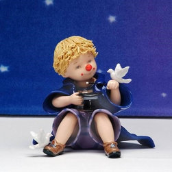 CG - 6 Inch Young Boy Magician with White Homemade Dove Figurine Statue - This gorgeous 6 Inch Young Boy Magician with White Homemade Dove Figurine Statue has the finest details and highest quality you will find anywhere! 6 Inch Young Boy Magician with White Homemade Dove Figurine Statue is truly remarkable.