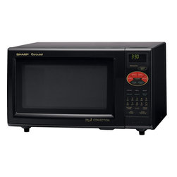 Sharp - 0.9 CF 900W, Double Grill Convection, 2 Line Interactive - 900-watt convection microwave oven with enhanced browning and crisping|0.9 cu. ft. capacity with 12.75 inch porcelain enamel carousel turntable|12-digit, interactive, 2 line display|Custom Help to program child lock, auto start and language/weight options|CompuBake, CompuPizza, CompuGrill, CompuRoast, CompuCook and CompuDefrost|35 pre-set menu options and 4 popcorn settings|Reheat key adjusts heating times for leftovers|Minute Plus gives one more minute of high cooking at a touch|Programmable 4 stage cooking with 11 variable power levels|Kitchen timer and clock|  sharp| r820bk| r-820bk| r820b| r-820b| microwave| oven| convection| grill| 2| 0.9| cu| ft| 900w| 900-watt| 900-watts| 900| w| watt| watts| turntable|  Package Contents: microwave|turntable|turntable support|warranty|manual  This item cannot be shipped to APO/FPO addresses  Sharp will no longer take back any Sharp product as a DOA.