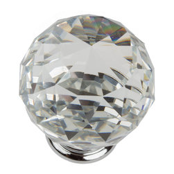 "GlideRite Hardware - GlideRite Clear 1-9/16"" K9 Crystal Cabinet Knob - Upgrade your cabinets with this K9 Crystal cabinet knob. Each knob is individually packaged to prevent damage to the finish. A standard installation screw is included."