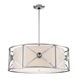 Metropolitan - Metropolitan N6905-77 Walt Disney Signature Fantasy 4 Light Chrome Drum Pendant - Features: