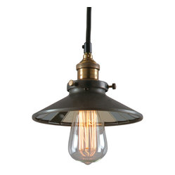 Bromi Design Calvin 1-Light Industrial Pendant with Mirror Glass