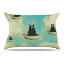 "Kess InHouse - Natt ""Bears"" Floating Animals Pillow Case, King (36"" x 20"") - This pillowcase, is just as bunny soft as the Kess InHouse duvet. It's made of microfiber velvety fleece. This machine washable fleece pillow case is the perfect accent to any duvet. Be your Bed's Curator."