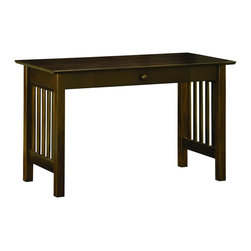 Atlantic Furniture - Atlantic Furniture Mission Writing Desk in Antique Walnut - Atlantic Furniture - Writing Desks - AH12214 - The center piece of any true home office the Mission Writing Table is the perfect mix of form and function.