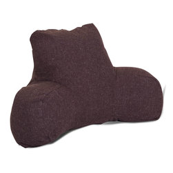Majestic Home - Indoor Chocolate Wales Reading Pillow - Props to you for choosing a piece that props you up comfortably and looks stylish in the process. Perhaps best of all, the linen-blend fabric is so easy care: You just unzip the slip to clean in a snap.