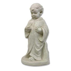Young St. Francis Garden Statue - Young St. Francis' presence will bring tranquility and serenity to your garden. Dressed in realistic, modest robes, the Young St. Francis Garden Statue can be placed in an open area or under a tree. This statue is constructed from a fiberglass resin and depicts the patron saint of the environment as open-handed and serene.About Orlandi StatuaryBorn in 1911 when Egisto Orlandi traveled from Lucca, Italy to Chicago, Illinois, Orlandi Statuary quickly set the standard for excellence in their industry. Egisto took great pride in his craft and reputation and which is why artists, interior designers, and museums relied upon the careful details and impeccable quality he demanded. Over the years, they've evolved into a company supplying more than statuary. Orlandi's many collections today include fiber stone for the garden, religious statuary, fountains, columns, and pedestals. Their factory and showroom are still proudly located in Chicago where, after 100 years, they remain an industry icon.