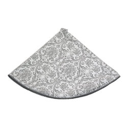 Chooty & Co. - Chooty and Co Abigail Storm with Pewter Twist Tree Skirt Multicolor - TS51C4003 - Shop for Holiday Ornaments and Decor from Hayneedle.com! With its classic damask pattern and elegant braided trim the Chooty and Co Abigail Storm with Pewter Twist Tree Skirt has timeless style. A handsome way to dress your Christmas tree this skirt features a sophisticated gray and white color palette. Its damask pattern is set off perfectly by the braided pewter trim. This tree skirt is 53-inches in diameter and is made of 100% natural cotton. It should be hand- or spot-cleaned for enduring beauty.About Chooty & Co.A lifelong dream of running a textile manufacturing business came to life in 2009 for Connie Garrett of Chooty & Co. This achievement was kicked off in September of '09 with the purchase of Blanket Barons well known for their imported soft as mink baby blankets and equally alluring adult coverlets. Chooty's busy manufacturing facility located in Council Bluffs Iowa utilizes a talented team to offer the blankets in many new fashion-forward patterns and solids. They've also added hundreds of Made in the USA textile products including accent pillows table linens shower curtains duvet sets window curtains and pet beds. Chooty & Co. operates on one simple principle: What is best for our customer is also best for our company.
