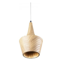 ParrotUncle - Ash Wood Carved Bell Shade Ceiling Lighting Pendant - Ash Wood Carved Bell Shade Ceiling Lighting Pendant