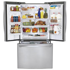 modern refrigerators and freezers by LG Electronics