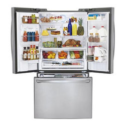 Super Capacity French Door Refrigerator - The shelving and drawer system in this LG is super efficient and makes seeing all your food easy.