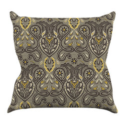 """Kess InHouse - Suzie Tremel """"Vintage Damask"""" Brown Gold Throw Pillow (16"""" x 16"""") - Rest among the art you love. Transform your hang out room into a hip gallery, that's also comfortable. With this pillow you can create an environment that reflects your unique style. It's amazing what a throw pillow can do to complete a room. (Kess InHouse is not responsible for pillow fighting that may occur as the result of creative stimulation)."""