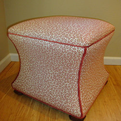 Cheery Half Moon Bay Residence - Add a contrast trim to a shaped ottoman in a fun animal print to spice up your room!