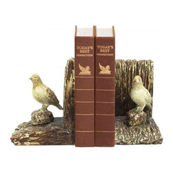 Sterling Industries - Pair Woodland Bird Bookends - Pair Woodland Bird Bookends