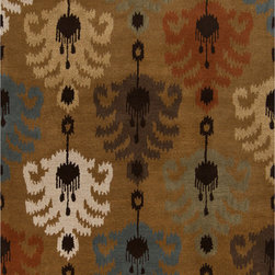 Surya - Surya Matmi MAT-5449 (Brown, Multi) 5' x 8' Rug - Unique is the only word to describe the Surya Matmi collection. Covered in individualistic patterns and bright, vivid colors, these rugs are unlike any other you have ever seen. Hand tufted from 100% wool, the softness and durability is just a bonus to these amazing rugs.
