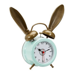 The Emily + Meritt Bunny Alarm Clock, Sky Blue - This sweet little alarm clock will continue to grow with your child, as it would work equally well in an older child's or teen's room.