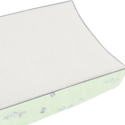 Babyletto - Babyletto Tranquil Contour Changing Pad Cover - T8073 - Shop for Baby Changing Table Sheets and Pad Covers from Hayneedle.com! With the Babyletto Tranquil Contour Changing Pad Cover when Nature calls your baby can actually be brought to Nature. Well not exactly but this cute changing pad cover does feature an adorable natural motif speckled with petite woodland flora and fauna that beautifully compliments the other pieces in this collection. Meanwhile the plush easy-to-clean terry top gives baby a comfortable place to lay as you attend to the natural business at hand. About Million Dollar BabyMillion Dollar Baby is a children s furniture company with a solid reputation for safety and traditional style. They are a family dedicated to improving and enhancing the lives of families worldwide. Million Dollar Baby was started in 1990 and built with a strong emphasis on quality and safety. Their quality control teams manually check the safety of their products in the factory and once again when they arrive in the warehouses in Los Angeles and Atlanta. These checks are in addition to those required by the JPMA and CPSC. Million Dollar Baby provides peace of mind to parents through their high safety standards as well as their environmentally conscious and socially responsible manufacturing. Million Dollar Baby has been featured in Consumer Reports and number one on the safest cribs list! Their family of brands includes Million Dollar Baby Classic DaVinci Babyletto Nursery works Franklin & Ben and ubabub.
