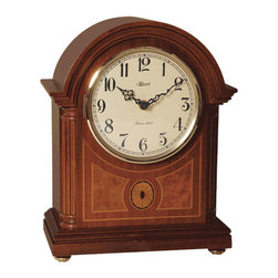 HERMLE - Hermle Clearbrook Barrister Mechanical Mantel Clock - Rich mahogany finish