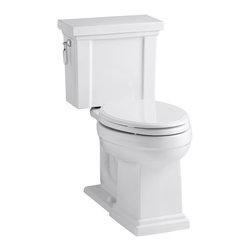 KOHLER - KOHLER K-3950-0 Tresham Comfort Height Two-Piece Elongated 1.28 GPF Toilet - KOHLER K-3950-0 Tresham Comfort Height Two-Piece Elongated 1.28 GPF Toilet with Class Five Flush System and Left-Hand Trip Lever in White