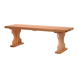 All Things Cedar - Cedar 4t. Backless Bench - A stand-off addition to any yard or landscape. Great for peripheral seating around the deck or as a subtle focal point in your garden area. Item is made to order.