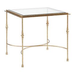 Louis J Solomon Metal End Table - TBL-7932
