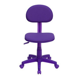 Flash Furniture - Flash Furniture Ergonomic Task Chair in Purple - Flash Furniture - Office Chairs - BT698PURPLEGG - The perfect chair for any room in your home. Whether for the kids or for your home office this chair will be a perfect addition. This chair will be a welcome and personal addition for any home office or home study area. [BT-698-PURPLE-GG]