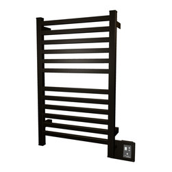 Amba - Edged 20x33 Electric Heated Towel Warmer, Oil Rubbed Bronze - Dual-purpose radiator functions as towel warmer and space heater