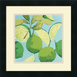 Fresh Limes Framed Print by Martha Negley