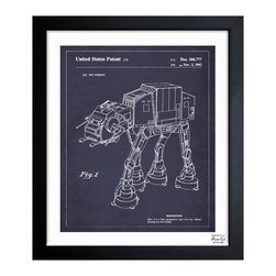 "The Oliver Gal Artist Co. - ''Toy Vehicle 1982' 15""x18"" Framed Art - Exclusive blueprints inspired by real vintage patent drawings & illustrations. Handcrafted in the Oliver Gal Artist Co. Studios in Miami, Florida. Produced on matte proofing paper and hand framed by professional framers in a 1.2"" premium black wood frame. Perfect for any interior design project, gifts, office décor, or to add special value to one of your favorite collections."