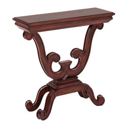 Ambella Home - Elmhurst Console Table - In your entryway, this elegant, refined console table is awaiting a vase of lovely flowers or a masterpiece of pillar candles. In your dining area, it could display stemware or a sculpture. Choices, choices.