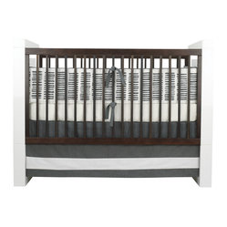Sticks 3,piece Crib Set, Pewter