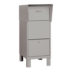 Salsbury Industries - Courier Box - Gray - Courier Box - Gray