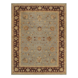 Rugsville - Rugsville Vegetable dyes Antique Persian Wool 10229 Rug, Tan & Ivory, 6'x9' - Rugsville offer our artisan-made rugs - each is hand-knotted and washed for heft, beautiful luster and subtle color. This Persian-style rug has the detail and luster of a hand-knotted antique. Based on a softer version of the Persian design their muted colors using vegetable dyes and simple, yet striking pattern fit well with modern neutral color schemes and both Transitional or traditional.