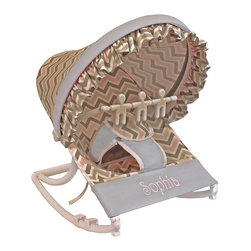 Hoohobbers - Hoohobbers Chevron Pink Rocking Infant Rocker Seat - 271-09 - Shop for Rocking Toys from Hayneedle.com! You'll love the modern yet sweet look of the Hoohobbers Chevron Pink Rocking Infant Rocker Seat. Designed to cradle your baby like a mother's arms this rocker has a deep soft sling which surrounds and fully cradles your baby. Your baby will be able to create a smooth gentle and calming rocking motion while moving helping her to calm herself. A removable toy bar with spinning characters will help to keep her entertained as she sits in the rocker. Its smooth solid frame locks to help keep your baby safe while the stabilizing feet prevents tipping. Its protective hood helps to block light and drafts to keep your baby comfortable. Its water safe machine washable fabric is easy to clean so you don't have to worry about accidents and spills. Simply fold this rocker up when you're on the go and bring it with you wherever you're traveling. Additional Features Baby calms self with gentle rocking motion 4 lbs rocker folds for easy transportation Removable toy bar with spinning toys Solid smooth frame which locks Stabilizing feet helps keep baby safe Protective hood helps block light and drafts About HoohobbersBased in Chicago Hoohobbers has designed and manufactured its own line of products since 1981 beginning with the now-classic junior director's chair. Hoohobbers makes both hard goods (furniture) and soft goods. Hoohobbers' hard goods are not your typical furniture products; they fold are lightweight and portable and are made to be carried by children all around the house. Even outdoors Hoohobbers' hard goods are 100 percent water-safe. At the same time they are plenty durable and can take the abuse children often give. Hoohobbers' soft goods are fabric items ranging from bibs to bedding from art smocks to Moses baskets. Hoohobbers' products are recognized by independent third parties for their quality and performance. Hoohobbers has received Best Design Awards from America's Juvenile Products Association each time selected from more than 20 000 products. Hoohobbers has also received the Parents' Choice Award and no Hoohobbers product has ever been subject to consumer recall. Furthermore the company's products are often featured in leading women's and children's publications.