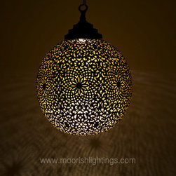Modern Moorish Light fixture Private home California - James O'Brian