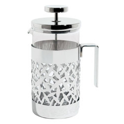 "Alessi - Alessi ""Cactus!"" Coffee Press - Press filter coffee maker or infuser in 18/10 stainless steel, mirror polished and heat resistant glass."
