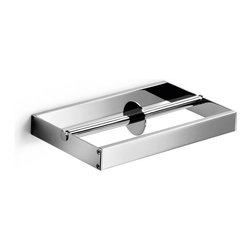 WS Bath Collections - Skuara 52807.29 Toilet Paper Holder - Skuara by WS Bath Collections Double Toilet Roll Holder 9.1 x 5.3 in Polished Chrome