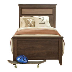 Standard Furniture - Standard Furniture Weatherly 2-Piece Panel Bedroom Set - Weatherly bedroom has warm appealing character with its textured two-tone finish and versatile transitional styling, plus it has the smart advantage of a space conscious footprint.
