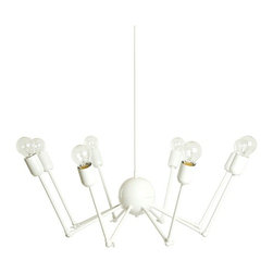 Single Octopus Pendant - If you've created a white and textured child's space and are looking for dreamy lighting with an edge, consider this Octopus Pendant chandelier. Redefining the traditional chandelier, Autoban has created a piece of art that will shed pleasant light on your little one below.