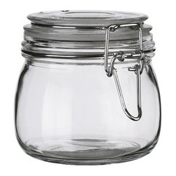 SLOM Jar with lid - Jar with lid, clear glass